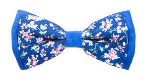 Blue bow tie with a pattern Stock Photography
