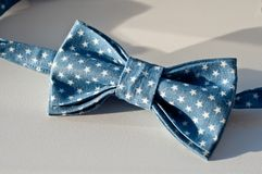 Blue bow tie stock photography