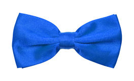Blue Bow Tie. Blue Tuxedo Bowtie Isolated on a White Background Royalty Free Stock Image