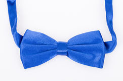 Blue bow tie on white Stock Photography