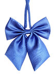 Blue bow tie for women Stock Photo