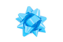 Blue Bow From Top Stock Photos