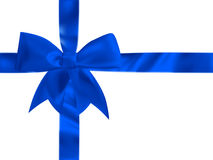 Blue bow top view. EPS 10 Royalty Free Stock Photo