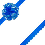 Blue bow on a white background Royalty Free Stock Photos