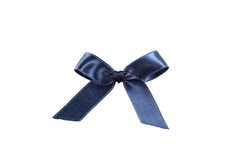Blue bow on white background. Royalty Free Stock Photography