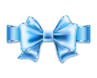 Blue bow. On white. illustration Stock Image