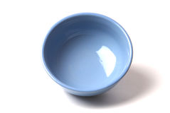 Blue bowl Royalty Free Stock Image