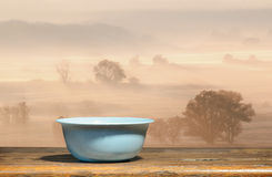 Blue bowl at dawn Stock Photography