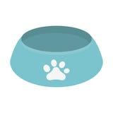 Blue bowl food dog paw print. Illustration eps 10 Royalty Free Stock Photos