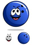 Blue bowling ball character Stock Photo