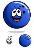 Blue bowling ball character Stock Photo