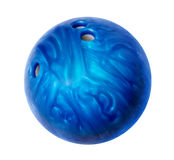 Blue bowling ball Stock Photos