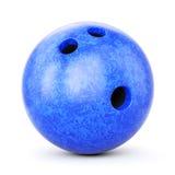 Blue bowling ball Stock Photo