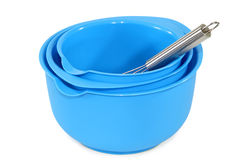 Blue bowls Stock Images