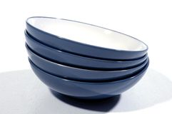 Blue Bowls Stock Photography