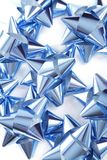 Blue bows royalty free stock images