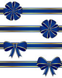 Blue bows. Collection of blue bows isolated on white background Royalty Free Stock Images
