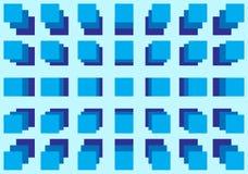 Blue box. Geometric shape background Royalty Free Stock Image