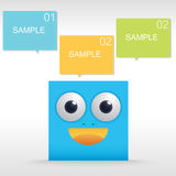 Blue box Funny character Royalty Free Stock Photo