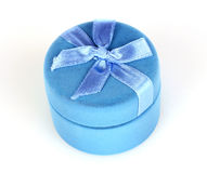 Blue box for jewelry Stock Photography