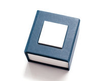 Blue box for jewelry Royalty Free Stock Photography