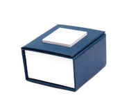 Blue box for jewelry Royalty Free Stock Photos
