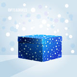 Blue box on light blue background Royalty Free Stock Images