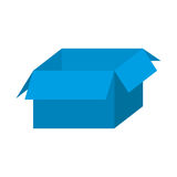 Blue box open icon Royalty Free Stock Image