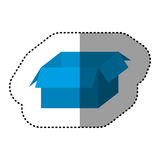 Blue box open icon Royalty Free Stock Images