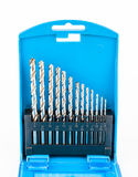 Blue Box Set of Drill Bits Royalty Free Stock Photo
