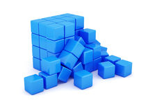 Blue box shape concept Royalty Free Stock Image
