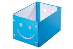 Blue box on a white background Stock Photography