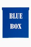 Blue Box on white background royalty free stock photo