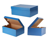 Blue boxes Stock Images