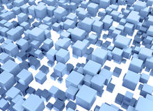 Blue boxes abstract digital illustration Royalty Free Stock Photography