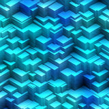 Blue boxes abstract. Abstract of shaded blue boxes structure concept Royalty Free Stock Photography