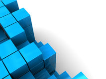 Blue boxes background Royalty Free Stock Photo