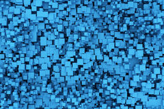 Blue boxes background. 3d render Royalty Free Stock Images