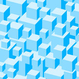 Blue boxes seamless pattern. Stock Images