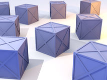 Blue Boxes in Stock Stock Photography
