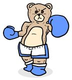 Blue boxing bear Stock Photography