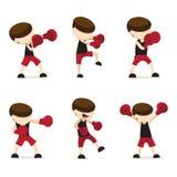 Blue boxing cartoon. Red  boxing cartoon vector design Royalty Free Stock Image