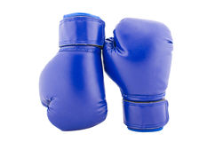 Blue boxing globes on a white background Royalty Free Stock Photos
