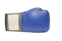 Blue boxing glove in white background Royalty Free Stock Images