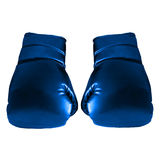 Blue Boxing Gloves. For Art work Stock Photos