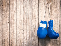Blue boxing gloves. 3d rendering blue boxing gloves Royalty Free Stock Image