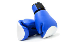 Blue boxing gloves Stock Photos