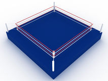 Blue boxing ring №3 Stock Photos