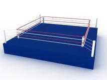 Blue boxing ring №1 Stock Photo