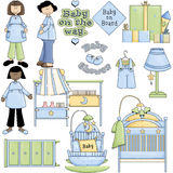 Blue Boy Baby Shower Clipart Royalty Free Stock Images